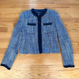 NWT Brooks Brothers Navy/Ivory Tweed Jacket